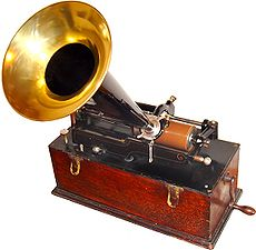 Early phonograph picture.